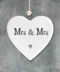East of India Mrs and Mrs Porcelain Heart