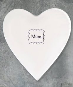 East of India Mum Porcelain Heart Coaster