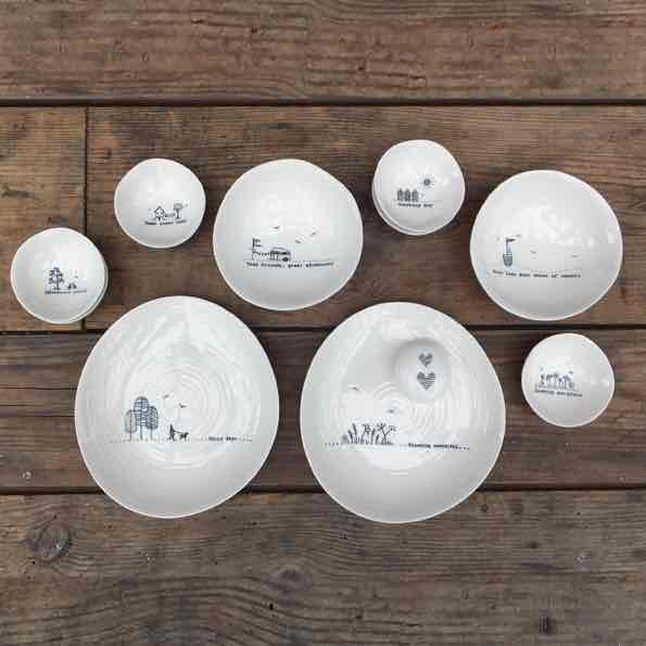 East of India Porcelain Trinket Dishs Lifestyle