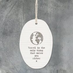 East of India Travel Porcelain Oval