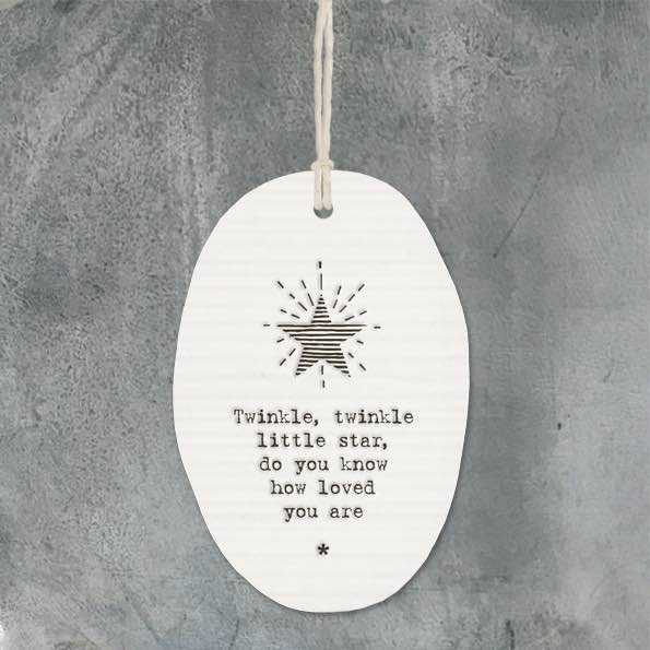 East of India Twinkle Twinkle Porcelain Oval