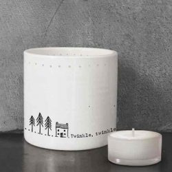East of India Twinkle Twinkle Tea Light Holder