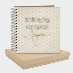 East of India Wedding Planner Pocket Book White