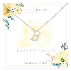 Life Charms B is for Bubbly Necklace