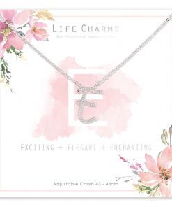Life Charms E is for Exciting Necklace