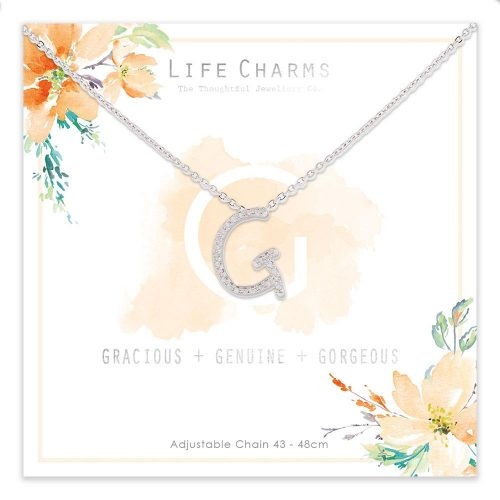Life Charms G is for Gracious Necklace