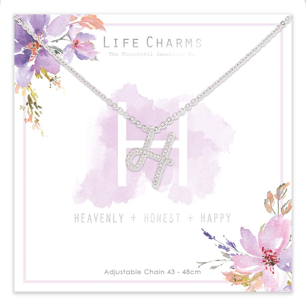 Life Charms H is for Heavenly Necklace