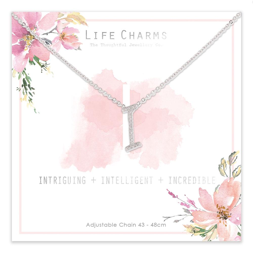 Life Charms I is for Intriguing Necklace