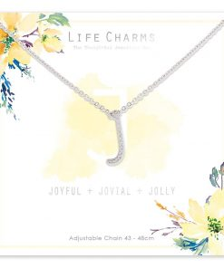 Life Charms J is for Joyful Necklace