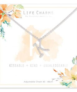 Life Charms K is for Kissable Necklace