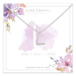 Life Charms L is for Loyal Necklace