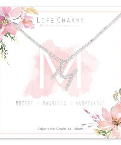 Life Charms M is for Modest Necklace