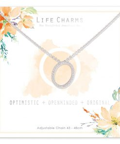 Life Charms O is for Optimistic Necklace