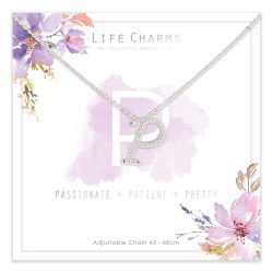 Life Charms P is for Passionate Necklace