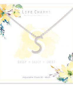 Life Charms S is for Sassy Necklace