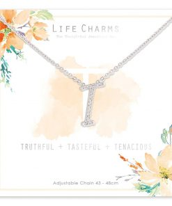 Life Charms T is for Truthful Necklace