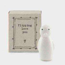 Matchbox Porcelain Penguin