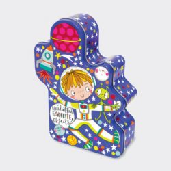 Astronaut Kids Shaped Storage Tin