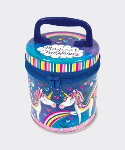 Unicorn Magical Treasures Zipped Storage Tin