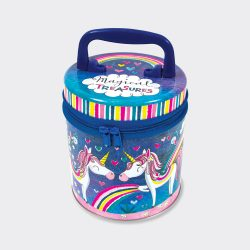 Unicorn Magical Treasures Zipped Storage Tin