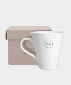East Of India Dad Porcelain Mug Box