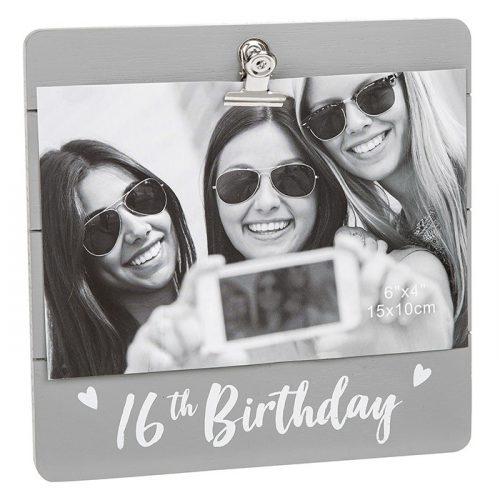 16th Birthday Grey Cutie Clip Photo Frame