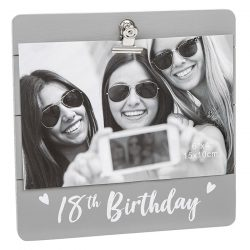 18th Birthday Grey Cutie Clip Photo Frame