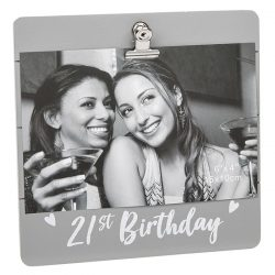 21st Birthday Grey Cutie Clip Photo Frame