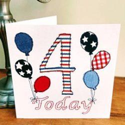 Birthday Age Greetings Card