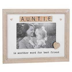 Auntie Scrabble Sentiments Photo Frame