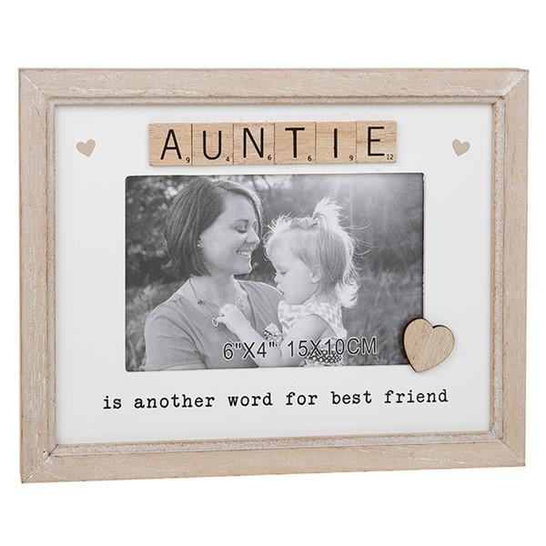 Auntie Scrabble Sentiments Photo Frame