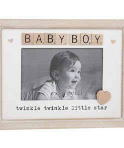 Baby Boy Scrabble Sentiments Photo Frame