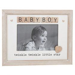 Baby Boy Scrabble Sentiments Photo Frame