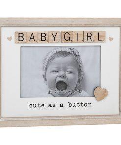 Baby Girl Scrabble Sentiments Photo Frame
