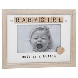 Baby Girl Scrabble Sentiments Photo Frame