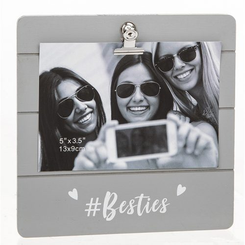 Besties Grey Cutie Clip Photo Frame