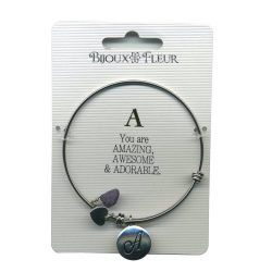Bijoux Fleur 'A is For Amazing..' Bangle