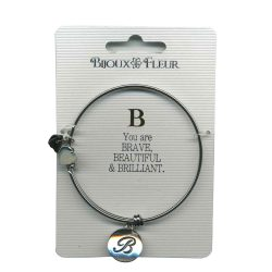 Bijoux Fleur 'B is For Brave..' Bangle