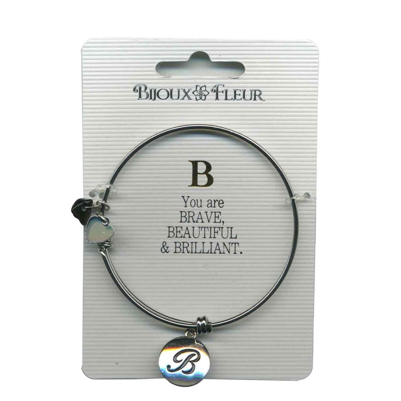 Bijoux Fleur 'B is For Brave..' Bangle