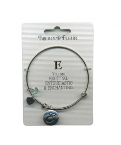 Bijoux Fleur 'E is For Exciting..' Bangle