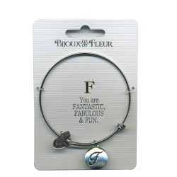 Bijoux Fleur 'F is For Fantastic..' Bangle