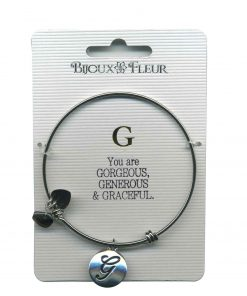 Bijoux Fleur 'G is For Gorgeous..' Bangle