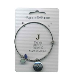 Bijoux Fleur 'J is For Joyful..' Bangle