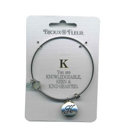 Bijoux Fleur 'K is For Knowledgeable..' Bangle