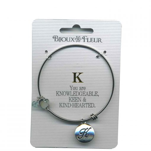 Bijoux Fleur 'K is For Knowledgeable..' Bangle