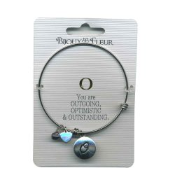 Bijoux Fleur 'O is For Outgoing..' Bangle