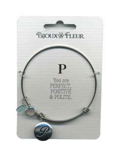 Bijoux Fleur 'P is For Perfect..' Bangle