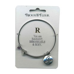 Bijoux Fleur 'R is For Radiant..' Bangle