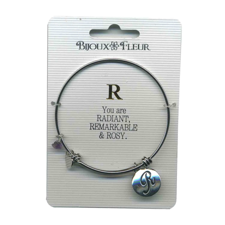 Bijoux Fleur 'R is For Radiant..' Bangle