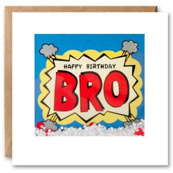 Bro Birthday Kapow Shakies Card